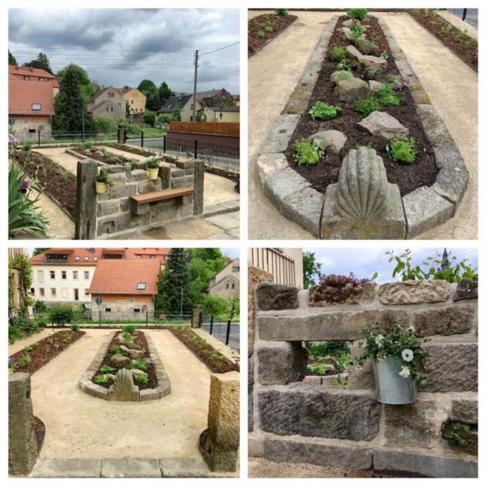 Garten nach Umgestaltung