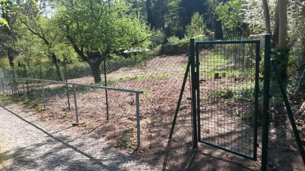 nach Beräumung einschliesslich Zaunbau