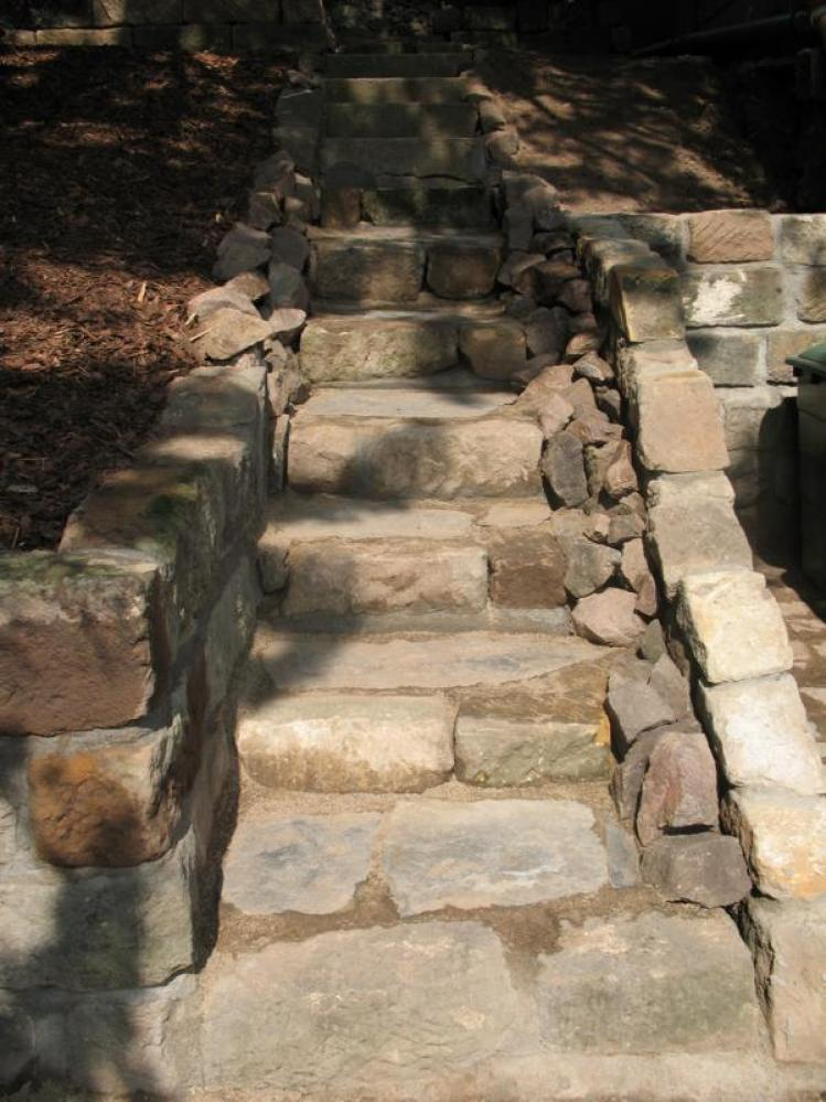 Gartentreppe nachher