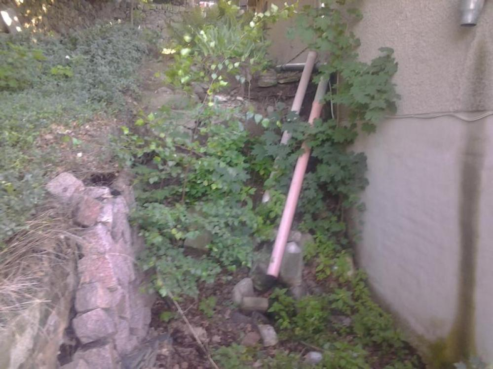 Entwässerung vorher