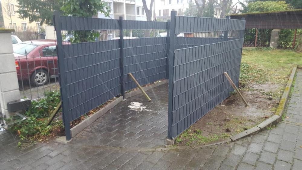 Zaunfelder mit Sichtschutz