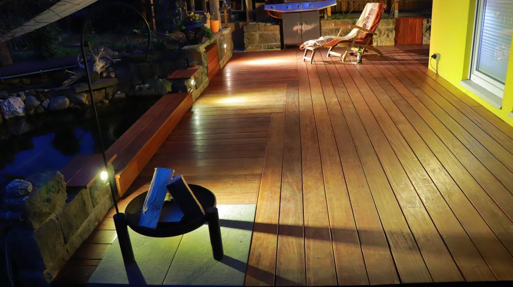 Terrasse aus Red Cumaru. Terrasse kann nach Absprache besichtigt werden.